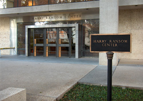 The Harry Ransom Center on the Univ. of Texas at Austin campus. Photo by the author.