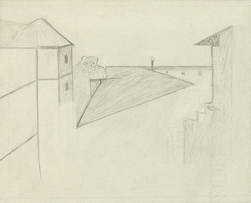 Helmut Gernsheim's drawing of the famous image. Courtesy of the Harry Ransom Center.