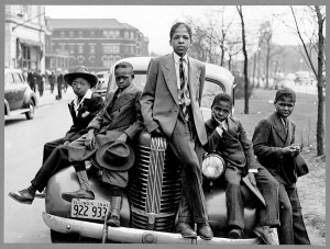 Boys on Easter morning, southside, Chicago, Illinois, 1941. Russell Lee