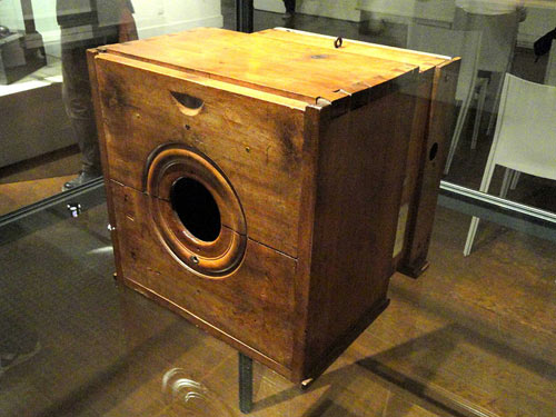 The actual camera used by Niépce to take his famous photo. Photo courtesy Musée Niécephore Niépce/Chalon-sur-Saône.