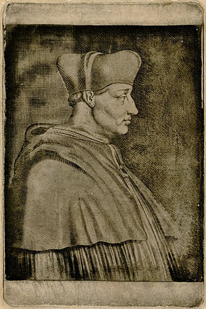 Nicéphore Niépce's photoetching of an engraving of Cardinal Georges D'Amboise. Courtesy of the Harry Ransom Center.
