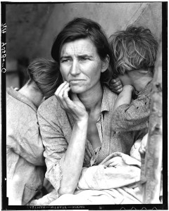 "Destitute pea pickers in California (aka ""Migrant Mother""), 1936. Dorothea Lange"