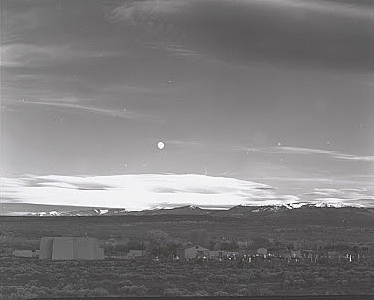 The original contact print of Moonrise.
