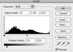 Output Levels for Grey Post