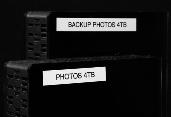 It is important that the backup copies of your photos and other data be stored on a separate storage location from the original copies of your files.