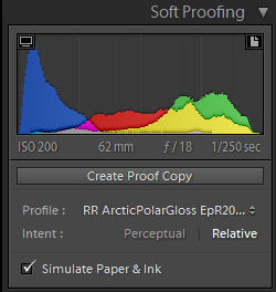 Lightroom 4 Soft Proof Example with Red River Paper