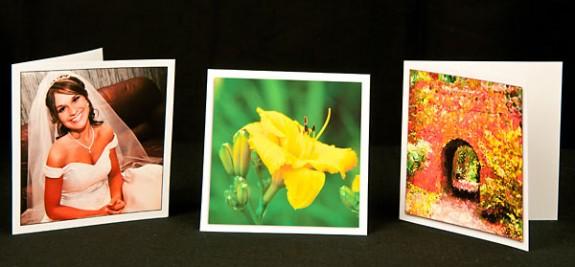 Square inkjet printable greeting note card paper stock
